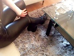 Boots, Leather, Heels, Shemale in boots, Xhamster.com