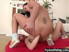 Anal, Double Anal, Lesbian, Blonde double anal, Pornhub.com